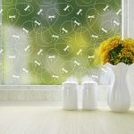 dragonfly pattern privacy window film