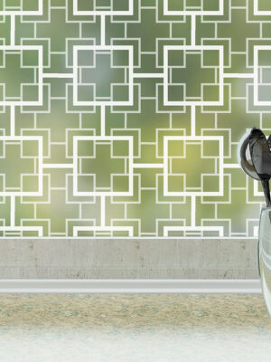puggy patterned mad men inspired privacy window film - by odhams press