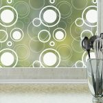 retro dots modern privacy window film by odhams press