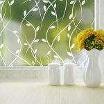 vines cling frosted privacy window film